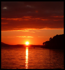 Sunset at loch Ewe