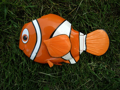 Discarded toy fish