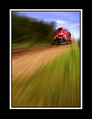 A Freight Train Blues (Glenbourne At Home) Tags: canada colour trains alberta blackframes freight banffnationalpark canadianpacificrailway bowvalleyparkway bakercreek aplusphoto visiongroup summer2008 goldstaraward hwy1a damniwishidtakenthat vision100