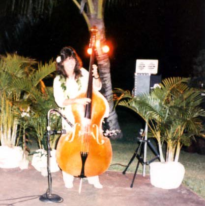 Rudy in Hawaii on upright bass