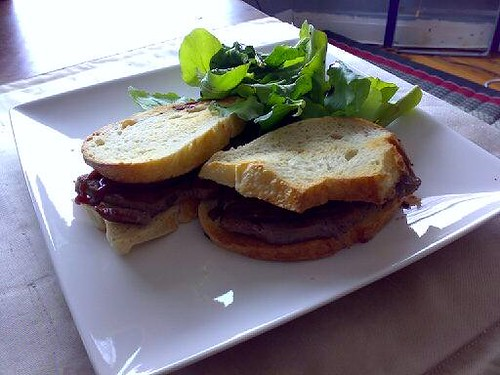 kangaroo steak sandwich