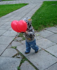 Two red balloons (mdanys) Tags: family boy red balloons fun kid funny balloon osama lithuania vilnius lietuva danys thebestofday gnneniyisi mdanys