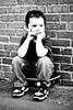 tough bw (nickicolleen) Tags: boy bw blackwhite child skater tough 4yrs