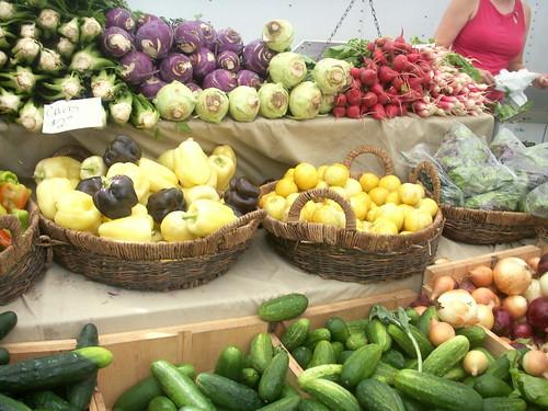 rainbow of vegetables