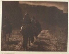 The Vanishing Race - Navaho (Smithsonian Institution) Tags: horses sepia america outdoors shadows desert action brush cliffs trail caravan navajo nativeamericans americanindians navaho smithsonianinstitution early20thcentury smithsonianinstitutionlibraries edwardcurtis edwardscurtis