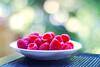 bokehlicious raspberries (*Peanut (Lauren)) Tags: fruit 50mm bokeh raspberries september2008 leavingearlywissickbbl getwellsoonsirw