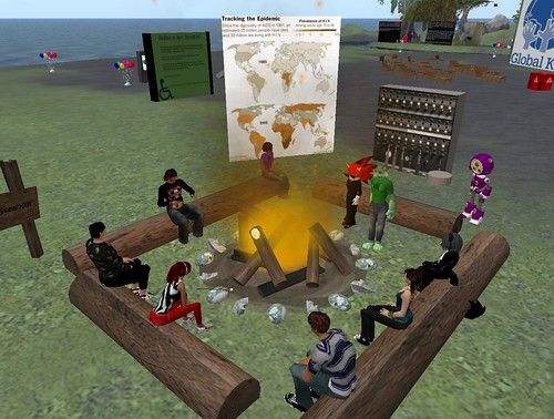 About a dozen teens converged on Global Kids Island in Teen Second Life to ...