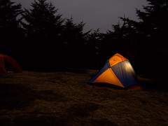 Campsite (daveelmore) Tags: longexposure camping winter camp copyright night hiking tent backpacking candlelight campsite allrightsreserved appalachiantrail graysonhighlands candlelantern at crazyforcamping sierradesignslookoutcd daveelmore