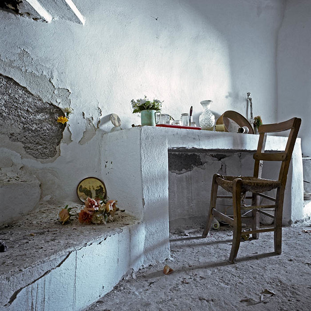 Fake Plastic Flowers And A Real Life. Stavrohori (Σταυροχώρι, Κρήτη) Crete.