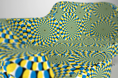 Furniture that could make your feel dizzy : Hypnose Sofa