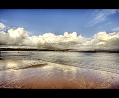 Mumbles (Chee Seong) Tags: uk cloud reflection beach swansea wales canon handheld mumbles hdr canon1022mm 400d