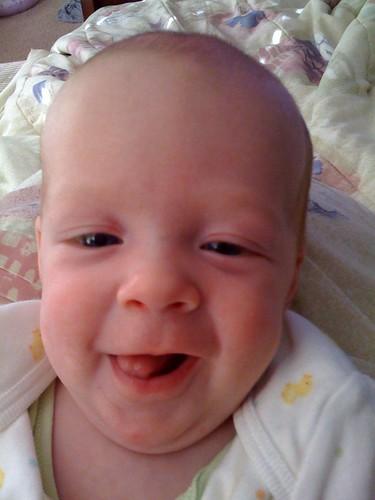 Cora smiling