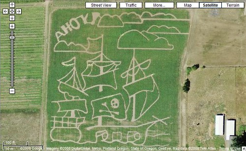 Baggenstos Farms Pirate Theme Corn Field Maze