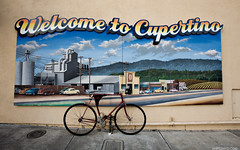 Welcome to Cupertino (simpsonyiu.com) Tags: california ca wallpaper home apple colors bike bicycle sign cali wall bay hp san widescreen painted jose yay faded area sj cupertino norcal welcome southbay armadillo willys simpsonyiucom