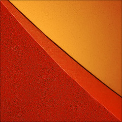 Tequila Sunrise (barbera*) Tags: red orange texture wall geometry line curve ofcourse stucco haveaniceday 500x500 fl00r eventhenightsarebetter