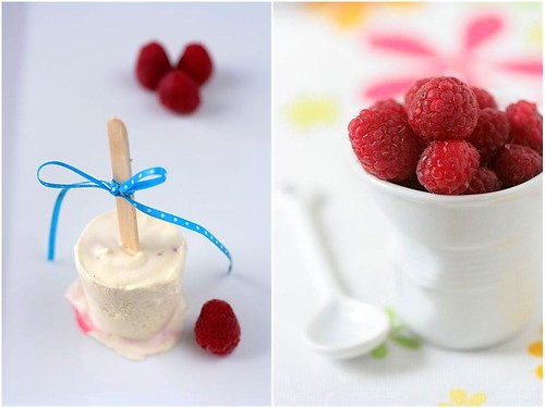 Frozen Raspberry Parfait Lollipops