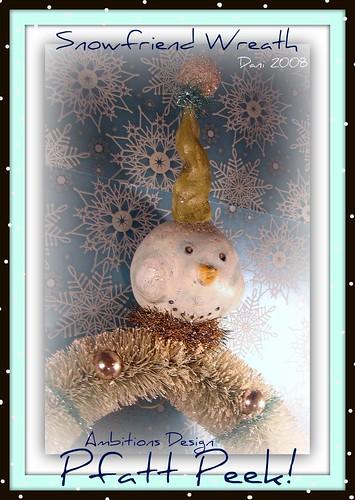 Vintagey Snowfriend Wreath
