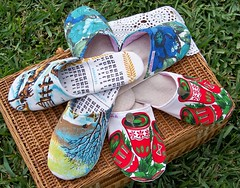 Vintage Linen Slippers