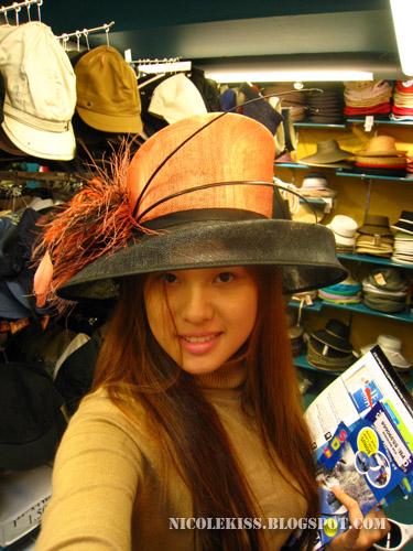 fancy orange hat