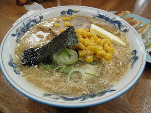 Yummy corn-butter-miso-ramen