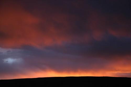 Sunset light in Negro Mayo, Peru.