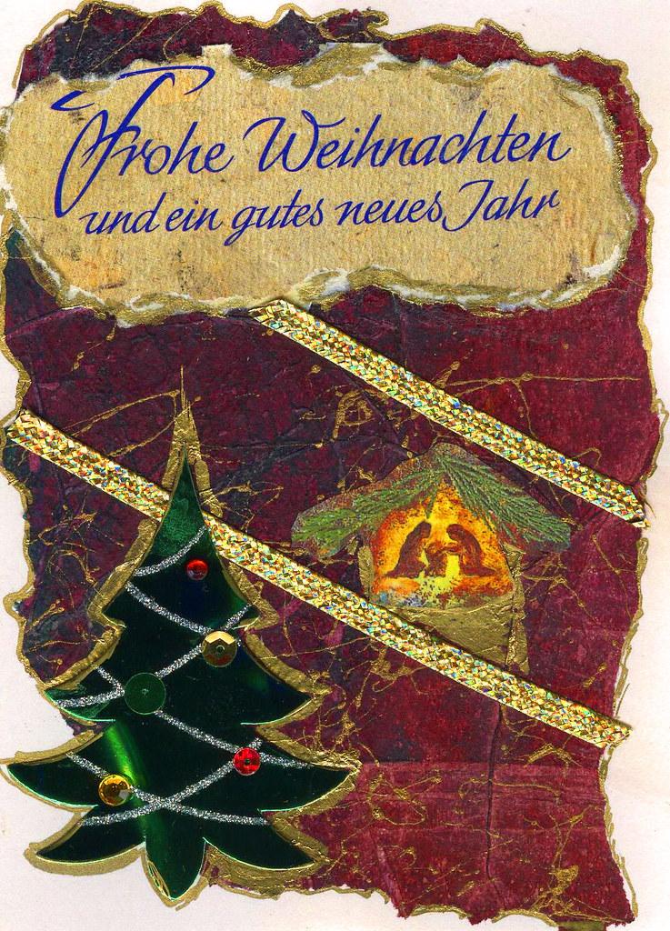 Christmas Greeting Card in German