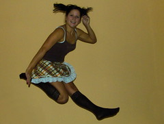 Happiness-Can't stop jumping:-) (victoriafoto*) Tags: woman me girl socks happy jump funny skirt laugh kangoo mymood jumpinghungarians