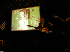 2prescreenwarp. (spuddleyspudd) Tags: cinema musicians scotland diy lowlight glasgow warehouse german silentmovie screening pointlesscreations spudd lowsalt conradveidt paulwegener photographism juddbrucke thenowmuseum thestudentofprague livemusicalscore