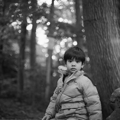 (Wendine) Tags: portrait bw 120 6x6 film mediumformat mykid mc 100 thing2 kiev60 arax fomapan carlzeissjena biometar acufine 80mmf28