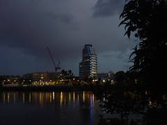 Putney Riverside (oliver7649) Tags: england tree london water thames night river lights apartments crane flats towerblock refection putney southwestlondon sw15 icl putneywharf luxuryapartments putneyriverside brewhousestreet