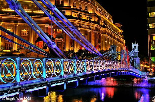 Colourful bridge.