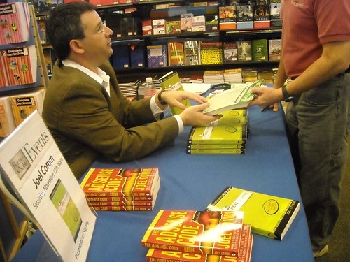 Signing books at Barnes and Noble