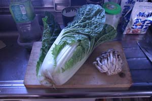 白菜とキノコ