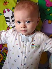 Sad? Angry? Suspicious? (douglasspics) Tags: baby fletcher douglass 6months