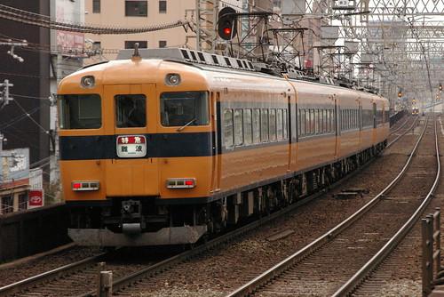 Kintetsu12400series in Imazato,Osaka,Osaka,Japan 2008/11/29