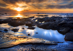 Rocks & ripples (wendyb1214) Tags: ocean sunset coast washington pacific olympicpeninsula rubybeach olympicnationalpark kalaloch naturesfinest platinumphoto flickrchallengewinner
