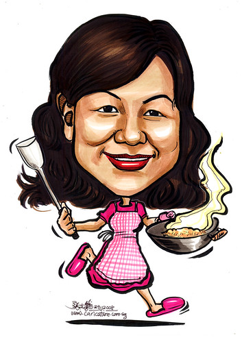 Caricature chef