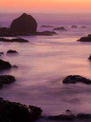 ((matt)) Tags: ocean longexposure sunset sea sky water rocks waves norcalcoast