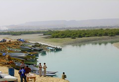 Qeshm (nasseria) Tags: trees boy sea lake fish reflection island boat fishing qeshm