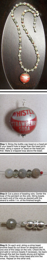 Independence Bottlecap Necklace Instructions