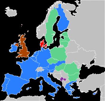 carte zone euro au 1 er janvier 2009