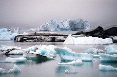 Jokulsarlon - Iceland (tigric (Ana Stefanovi)) Tags: autumn winter sunset lake cold ice nature water landscape iceland lakes september glacier celebrities route1 jokulsarlon glacierlagoon breiamerkurjkull explore64 photographyforrecreation celebritiesofphotographyforrecreation pfrclassic
