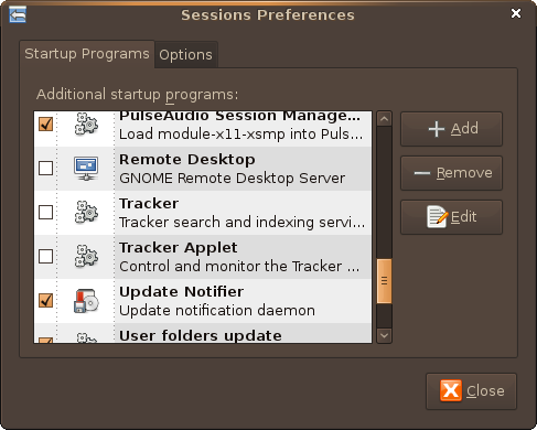 Screenshot-Sessions Preferences