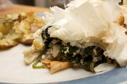spinach and mushroom pie