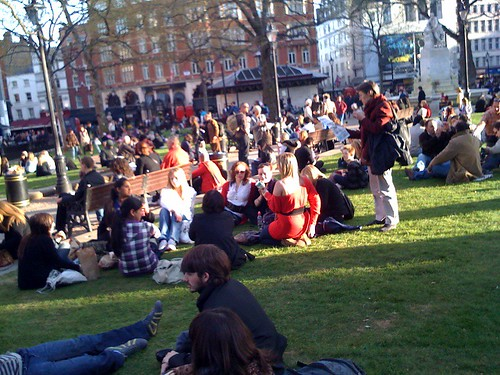 Spring in Leicester Square