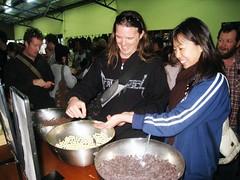 tastings!  In this photo: David Millin, Kyoko Morita