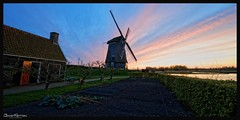 Mill's Backyard (Joost N.) Tags: sunset holland mill zonsondergang dutchmill twiske d700 twiskemolen joostnottenphotography twiskemolenfoto