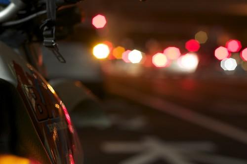 My Bike at After work by keganimushi
