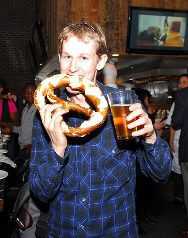Me with my prized pretzel