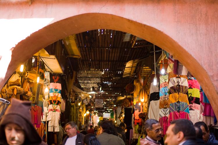 Entering the Souks